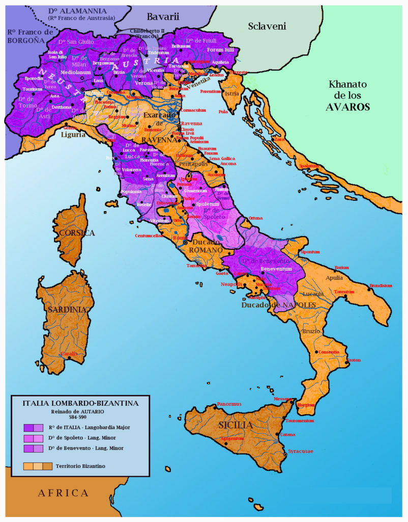 Mapa de ITALIA.Venecia