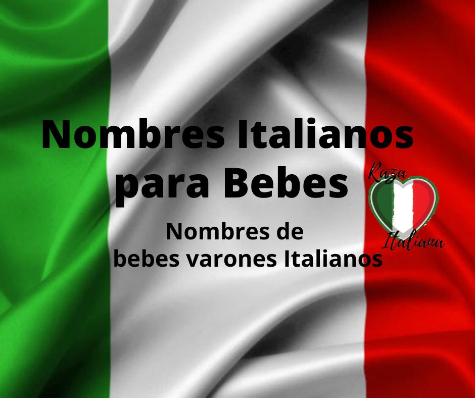 Nombres italianos para bebes