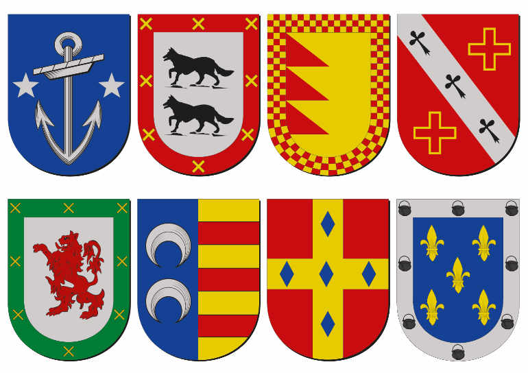 Escudos de familias. Origen del apellido DEQUELLI