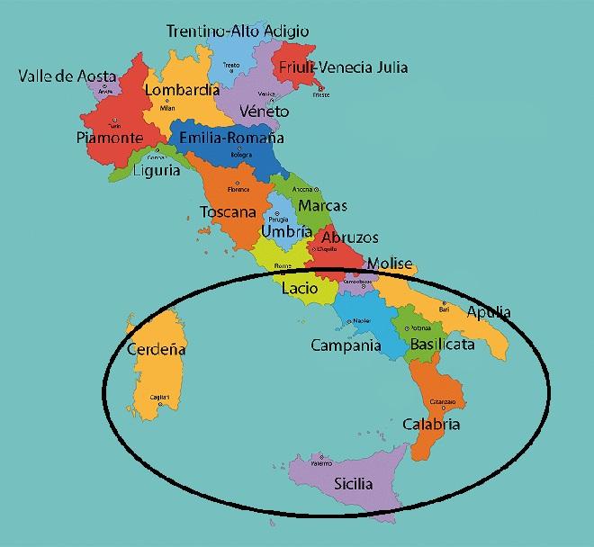 Regiones del Sur