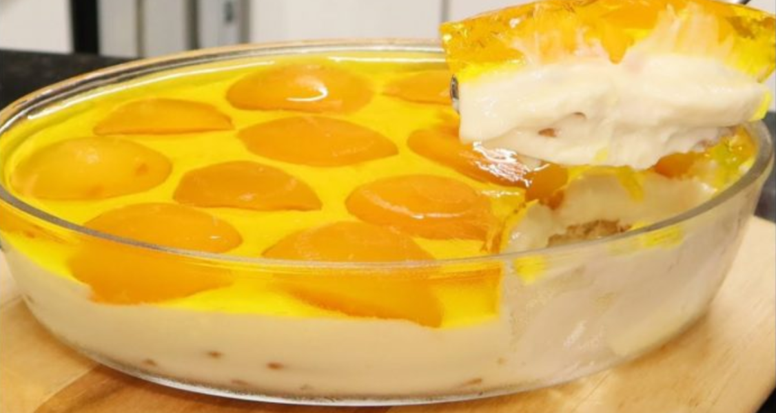 torta de durazno con crema
