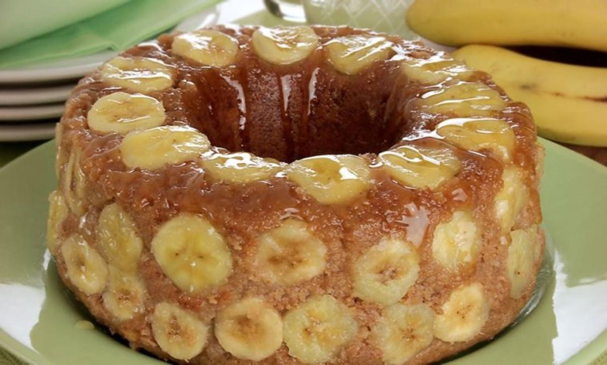 tarta de banana
