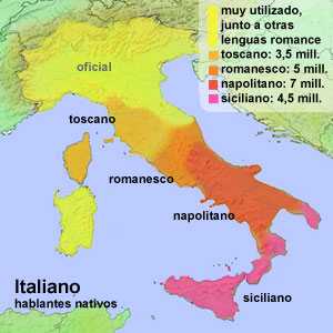 lenguas en italia
