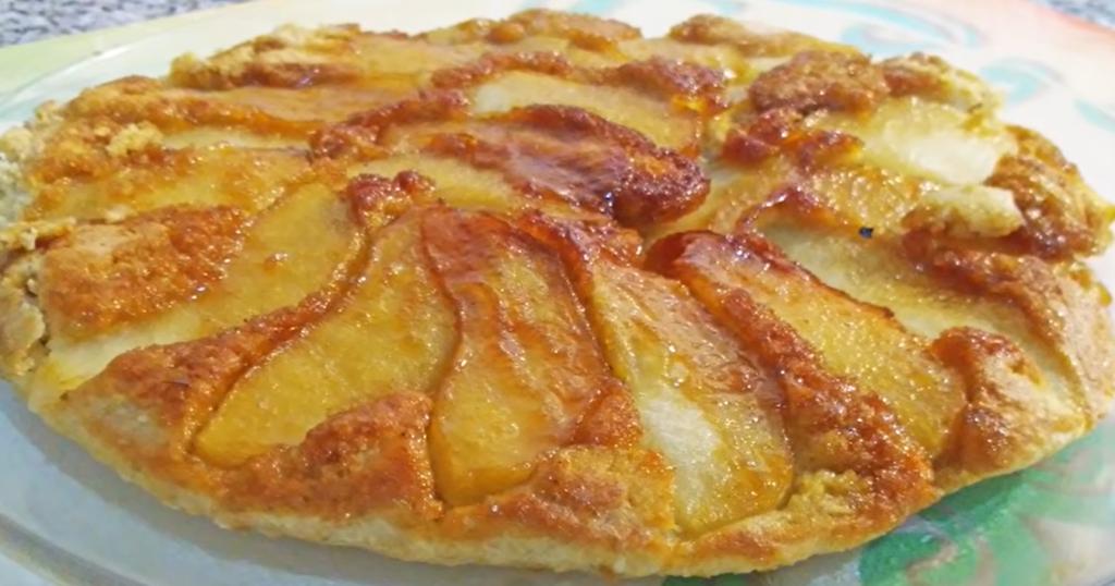 tarta de manzana y avena
