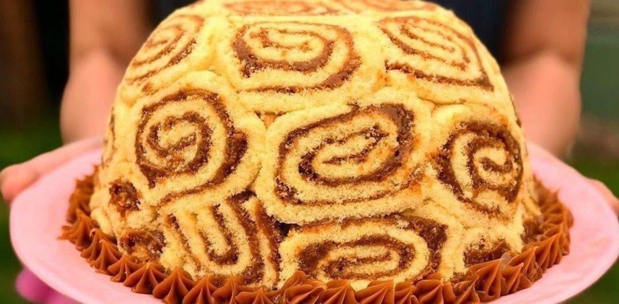torta helada con pionono